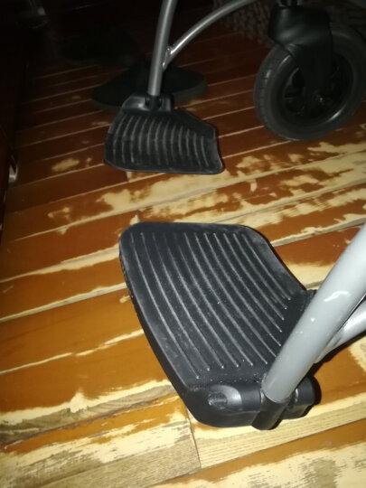 鱼跃(YUWELL)居家护理型轮椅H059B 半躺型带坐便器椅餐板钢管加固 手动折叠老人轮椅车 晒单图
