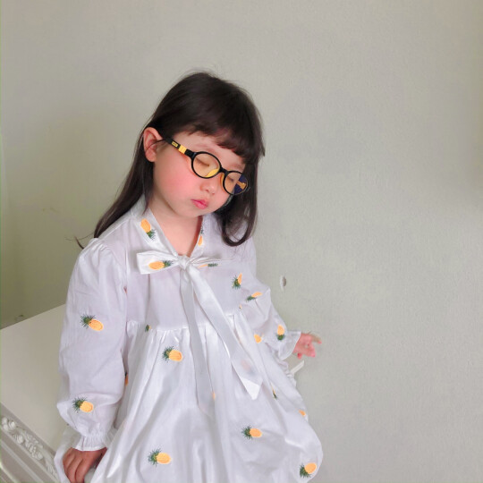 EFE儿童防蓝光眼镜防辐射护目镜男孩女孩通用无度数眼镜平板手机护眼眼镜 近视眼镜 搭配抗撞 C3-黑红色 晒单图