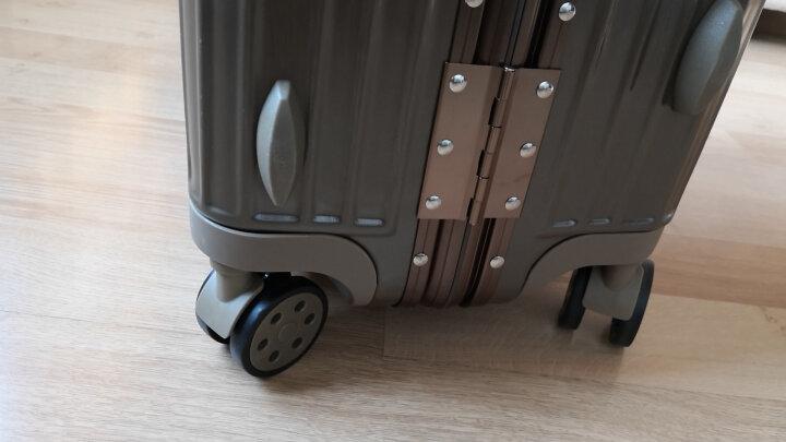 【防刮防盗合金铝框】EAZZ铝框拉杆箱万向轮行李箱男女士登机箱20寸24寸28寸26旅行箱密码皮箱子 【升级一体铝框】奢华蓝 20寸=登机箱 领券减价 晒单图