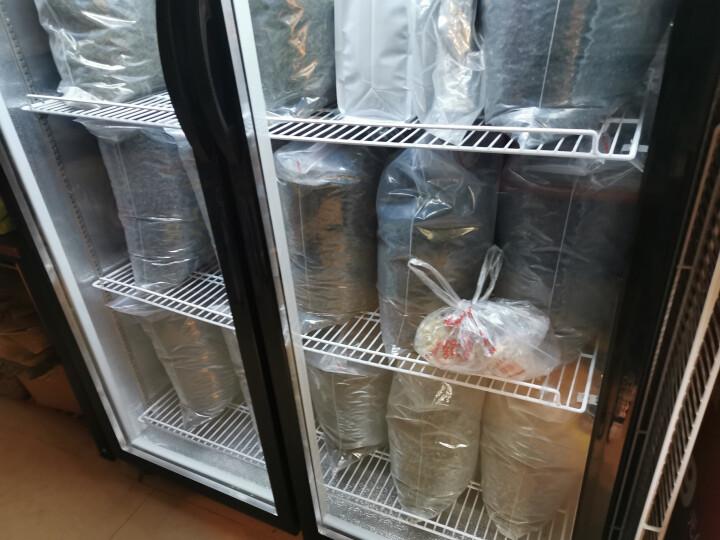 来博 饮料展示柜冷藏保鲜柜商用冰箱双门三开门立式水果保鲜柜无霜冰柜风冷直冷便利店超市冰柜冷饮卖水冰箱 (绿黑色 双门 618升 0到8度 直冷 晒单图