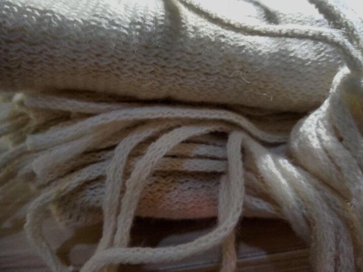 吻过 围巾男冬季新款百搭韩版简约拼色男士围巾毛线围脖学生长款年轻人条纹男士围巾新年礼物秋季 条纹黑白礼盒装 晒单图