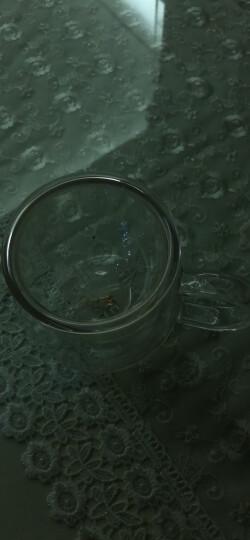 美斯尼 茶杯玻璃茶水分离杯子茶具竹盖带把手过滤网不锈钢内盖加厚耐高温加热男女士玻璃大号马克杯三件套装 380毫升 晒单图