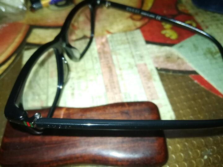 GUCCI 古驰 eyewear 光学镜架 男士全框板材近视眼镜框 GG0018OA-001 黑色镜框 54mm 晒单图