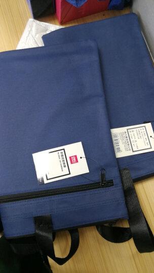 得力(deli) 双层事务包拉链袋 手提商务会议包 文件资料收纳包 升级加厚款 5590【灰】 晒单图