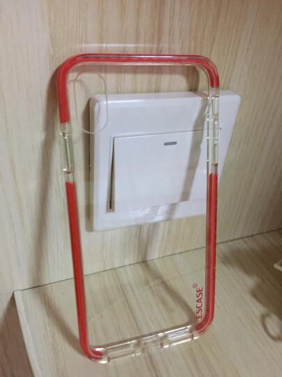 ESCASE 苹果iPhoneX/Xs手机壳 双色精密抗震保护套 全包边硅胶软套彩色边框 四角防摔2米ES-78系列 透明红 晒单图