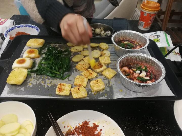 尚烤佳 电烧烤炉 家用电烤盘 韩式无烟铁板烧电烤炉 烧烤架中号JN-Z 晒单图