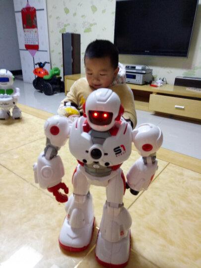 智能遥控机器人充电机械战警可对战唱歌跳舞编程电动早教玩具恐龙仿真动物霸王龙女孩男孩儿童节暑假礼物 【红色】手感应遥控摩卡战警 晒单图