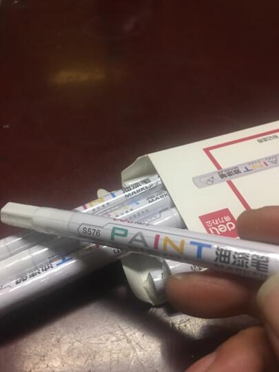 得力(deli)黑色修补油漆笔 签名签到记号笔涂鸦笔 4支/盒33095 晒单图