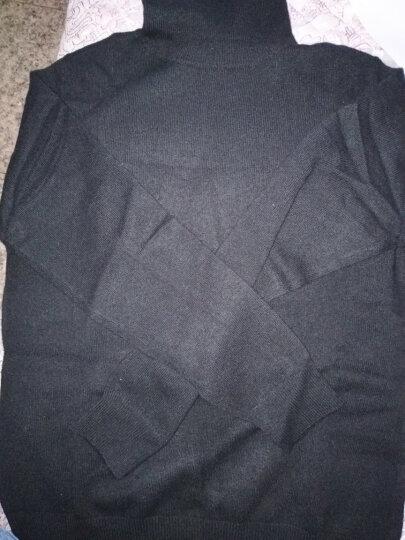 雪莲秋冬新款山羊绒女士纯色简约套头高领针织衫羊绒衫女 暗夜黑1628 XL(110) 晒单图