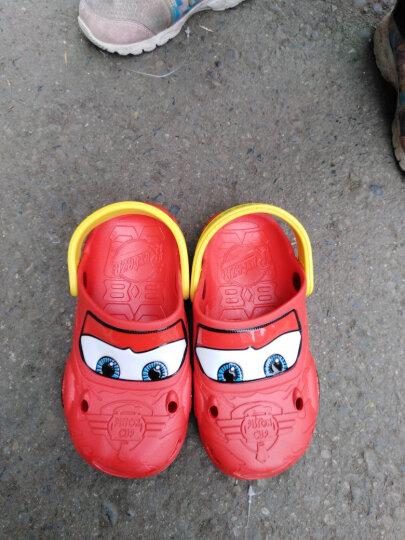 迪士尼儿童拖鞋男童凉鞋宝宝洞洞鞋夏幼儿防滑凉拖鞋1-2-3岁汽车麦昆沙滩鞋小孩两周小童包头家居童鞋 红色 180码内长17.5cm(适合5-5.5周岁) 晒单图