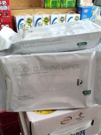 享家美 静电除尘纸吸尘平板拖把纸一次性粘毛发擦地板湿纸巾地拖布一拖净懒人干湿两用替换装 5包地板湿巾 晒单图