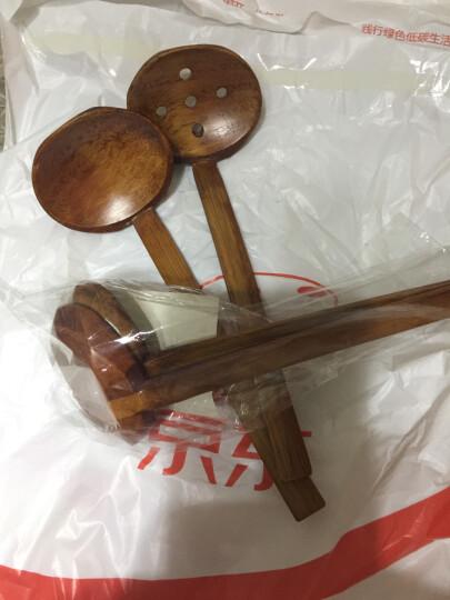 竹木本记火锅勺拉面大汤勺漏勺组合实木日式长柄龟甲木勺 晒单图