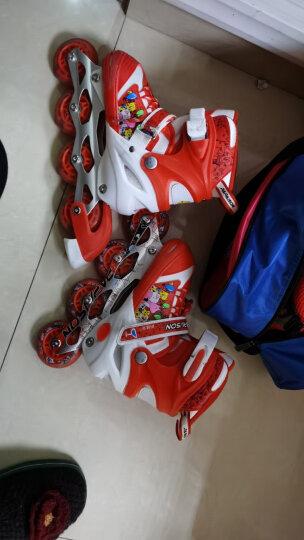 小状元 溜冰鞋 儿童套装轮滑鞋旱冰鞋滑冰鞋 男女小孩直排轮单排轮滑 红丨八轮全闪(含护具头盔+包) M码鞋大小可调(33-37码) 晒单图