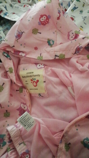 贝壳家族宝宝印花外套 春装新款女童童装儿童外套上衣wt6806 粉色猫头鹰 130cm 晒单图