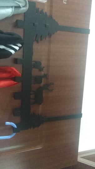 易时代 创意门后挂钩衣帽钩免钉壁挂门后挂衣架门后免打孔不锈钢收纳架门后收纳 【不参与买2送1】天鹅 6钩【白】 晒单图