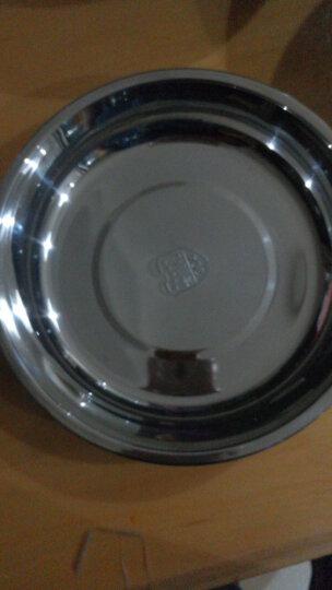 加厚不锈钢盘菜盘圆盘子不锈钢碟子饭盘汤盘水果盘平盘 22cm 晒单图