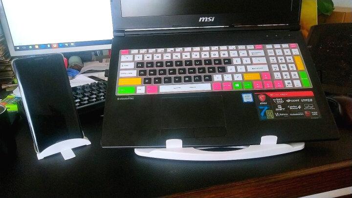 【稳如泰山】 笔记本支架 折叠升降  桌面散热托架 支持13.3英寸 14英寸 15.6英寸 黑色-豪华版(360度旋转) 晒单图