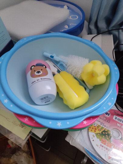 世纪宝贝(babyhood)洗脸盆 新生儿宝宝婴儿脸盆 儿童花边小脸盆 淡蓝色 BH-702 晒单图