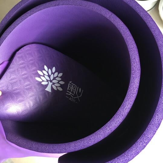 奥义 瑜伽垫 15mm加厚防滑健身垫 185*80cm(赠绑带+网包)加宽加长男女运动垫子 蓝色 晒单图