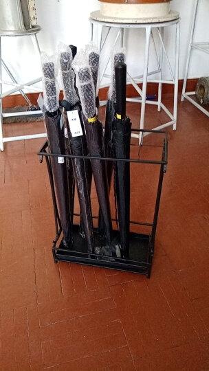 悠雪 雨伞架家用创意铁艺雨伞桶商用酒店大堂雨具雨伞收纳架落地式挂放伞的架子 36孔32钩(白色) 晒单图