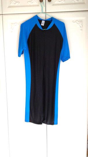 鲨巴特(SBART) 泳衣女连体潜水冲浪防晒修身保守短袖带胸垫泳衣 F8046 M 晒单图