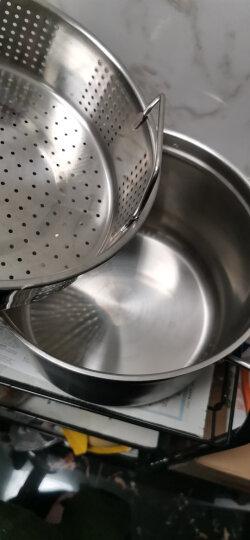 苏泊尔SUPOR蒸滋味复底304不锈钢汤蒸多用锅明火电磁炉通用24cm汤锅单层蒸笼SZ24S1 晒单图