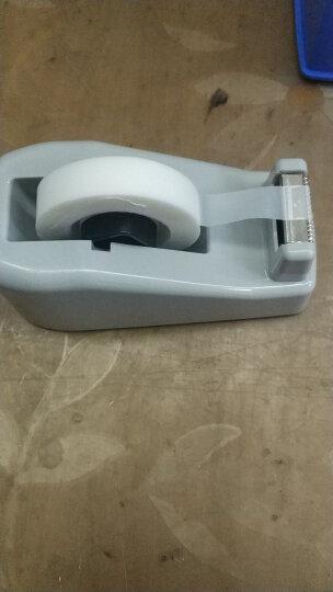 得力(deli)大号胶带座切割器封箱器(胶带宽度 ≤24mm) 蓝灰随机812 晒单图