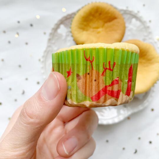 德立(DOLO) 烤箱用烘焙花边纸托 爱心/甜蜜/纯色 蛋挞/蛋糕纸托/纸杯  约100个 圣诞树 晒单图