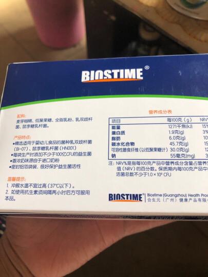 合生元(BIOSTIME)儿童益生菌粉(益生元)奶味48袋装(儿童  法国进口菌粉 活性益生菌  ) 晒单图