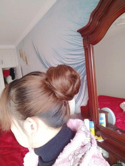 芙妮菲儿(fairily) 真发包 丸子头假发包女盘发花苞头真人发丝发圈皮筋蓬松假发发包 真发卷发包-浅棕色 晒单图