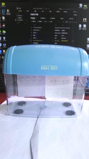 日本仲林(Nakabayashi)桌面手摇碎纸机小型粉碎机办公家用迷你碎纸机快速粉碎作业文件 蓝色 NSH-S01MB 晒单图