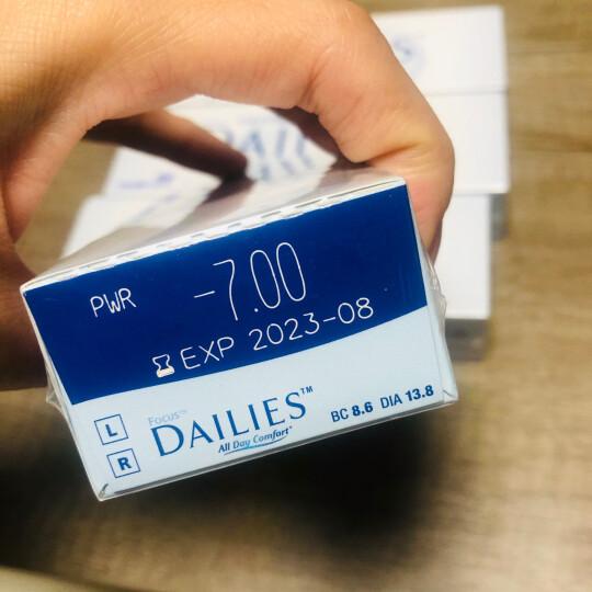 爱尔康视康 隐形眼镜 水润型 进口日抛 30片装 525度 晒单图