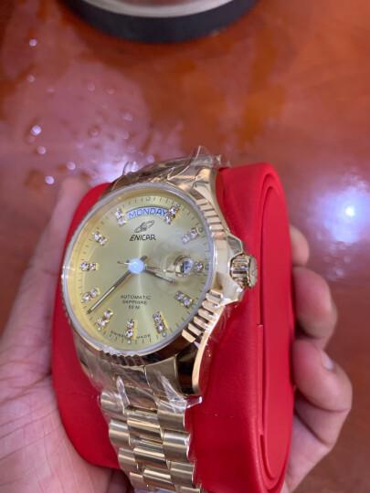 英纳格(ENICAR)瑞士原装进口手表 精英系列间金钢带自动机械男表3169/50/330GS 晒单图