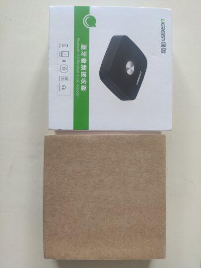 绿联(UGREEN)AUX无线车载蓝牙适配器免驱5.0版 3.5mm转手机电脑耳机台式机音箱响音频电视功放接收器 30444 晒单图