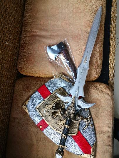 酷维漫 儿童玩具刀剑盾牌组合 影视表演COS道具模型 网咖酒吧装饰 安全环保塑胶玩具刀剑 白剑逐暗者(小号)+飞龙盾牌 晒单图