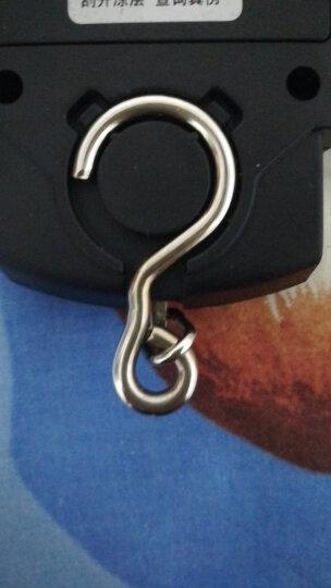 酷贝(Kubei)高精度手提电子秤迷你称重器小挂钩秤电子称50公斤快递员便携式家用弹簧厨房食品婴儿 黑色外壳蓝色背光 中文背光款 晒单图