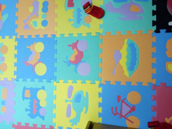 明德Meitoku 蝴蝶结泡沫垫 PE泡沫地垫 宝宝爬行垫 儿童拼接地垫 红+粉色拼图地垫30*30*1cm (9片装) 晒单图