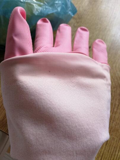 艺姿加绒家务手套保暖短款艾丽胶厨房卫浴植绒橡胶洗碗手套 YZ-706 晒单图