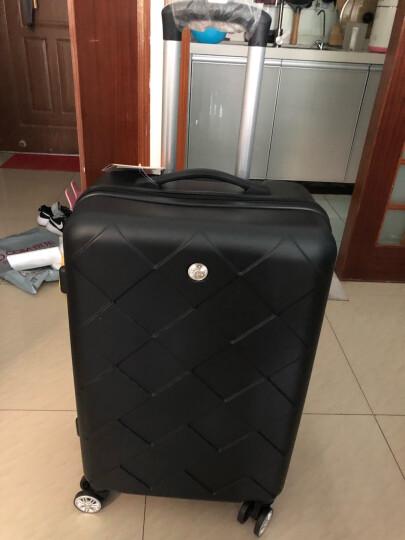 博兿(BOYI)拉杆箱24英寸男女双轴承万向轮旅行箱钻石纹系列行李箱 BY12002玫瑰金 晒单图