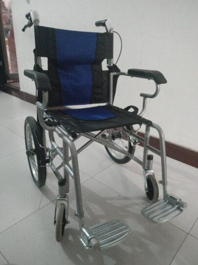 亿佰康轮椅折叠轻便便携式老年人手动轮椅车手推车残疾人代步车儿童旅行轮椅带手刹可折叠 轮椅折叠蓝色 晒单图