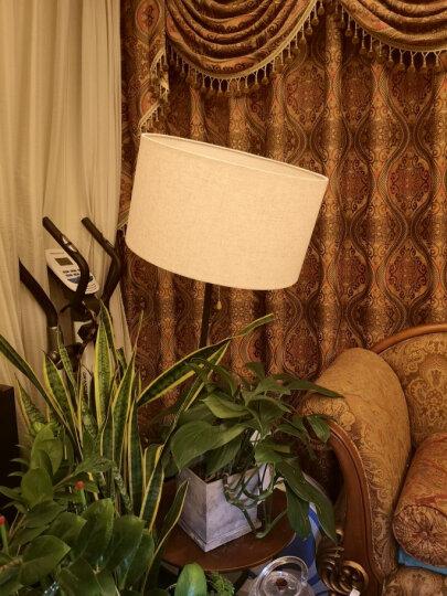 凡丁堡落地灯客厅沙发茶几灯阅读书房卧室创意美式北欧立式台灯 320黑胡桃色+亚麻色灯罩 配5W暖光LED光源 晒单图