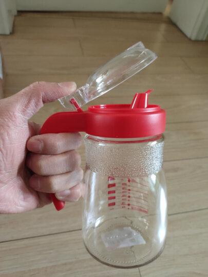 紫丁香 玻璃油壶 防漏控油调料瓶无铅食品级酱油醋瓶580ML(蓝、红随机) 晒单图