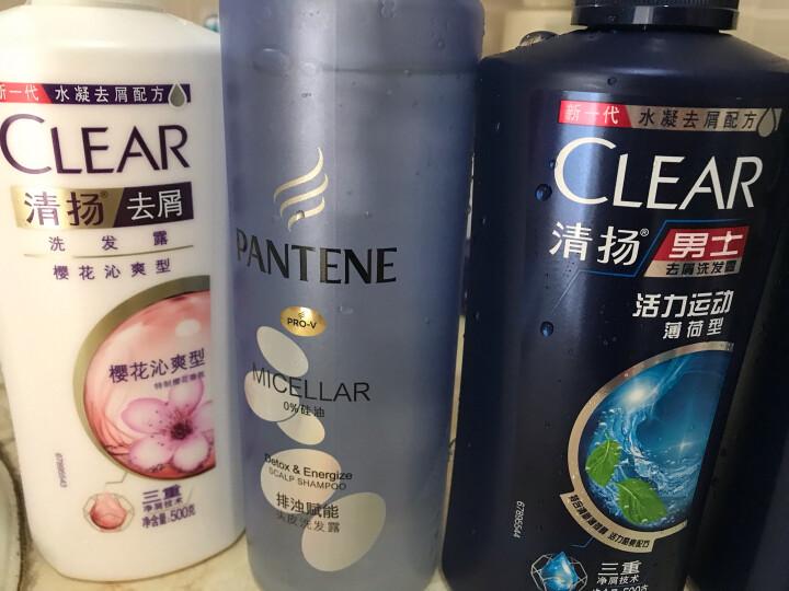 清扬(CLEAR)洗发水 去屑洗发露樱花沁爽 樱花露香水润型500g(新老包装随机发)(氨基酸洗发) 晒单图