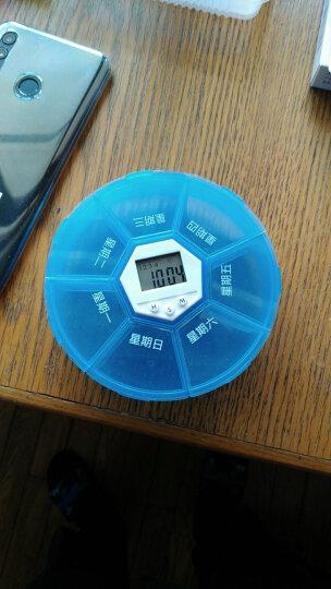 Vilscijon维简智能服药提醒器七格电子定时小药盒便携式老人吃药一周多格分药盒语音版 蓝色 8210 晒单图