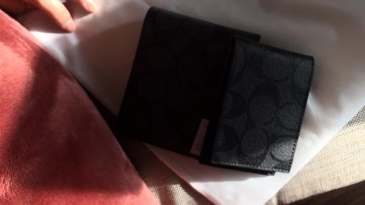 蔻驰 COACH 奢侈品 男士短款钱包棕色PVC F74993 MA/BR 晒单图
