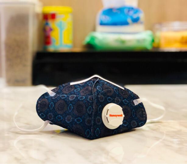 霍尼韦尔(Honeywell) 口罩 KN95 靓呼吸 防尘 耳带式带阀藏青方圈 男女骑 D7051V-BC1 (5只装) 晒单图