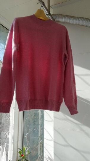 鳄鱼恤女士100%山羊绒针织半高领打底毛衣女基础款纯羊绒衫 白色 160/84A(95cm) 晒单图