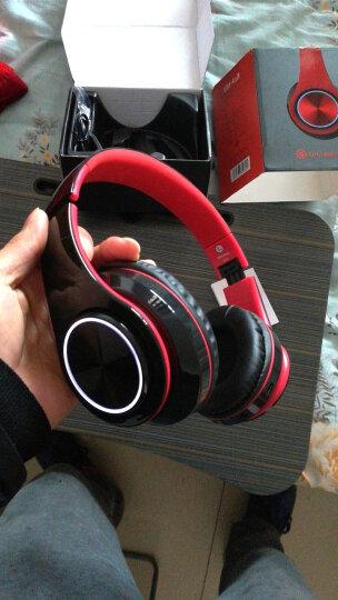 奇联 BH3耳机头戴式蓝牙无线降噪重低音运动游戏手机电脑通用耳麦 黑红色 晒单图