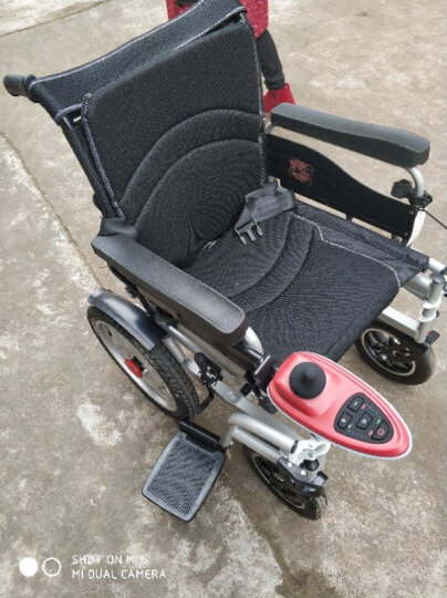 奔瑞(BENRUI) 奔瑞电动轮椅车可折叠轻便全躺老年残疾人自动智能四轮车 6001前后轮减震款【12安铅酸电池】 晒单图