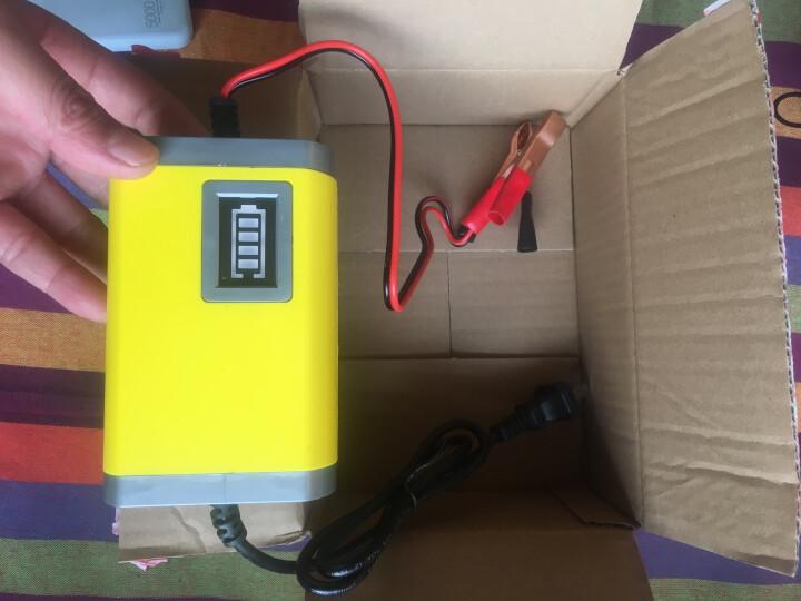 安力巨 12V电瓶充电器汽车轿车面包车摩托车智能铅酸蓄充电机 12V2A(摩托车专用充电器) 晒单图